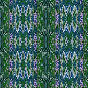 Digital Dalliance, blue and green