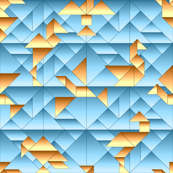 cubist tangram birds 8