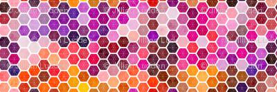 berry batik hex quilt