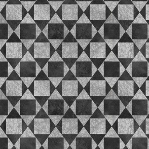 A Square is a Rhombus - B&W Textured