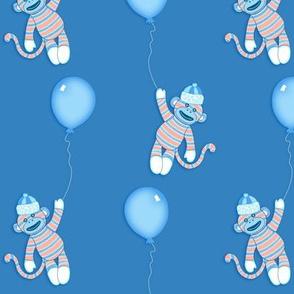 baby monkey - blue and orange