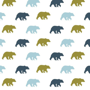 bear walk // Slate, earthy green & glacier water
