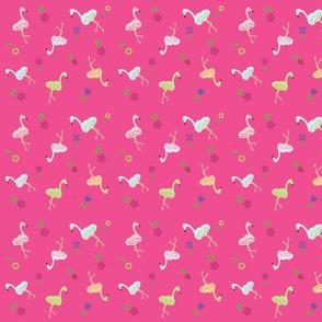 Flamingo Around Garden Hot Pink- 633 MED