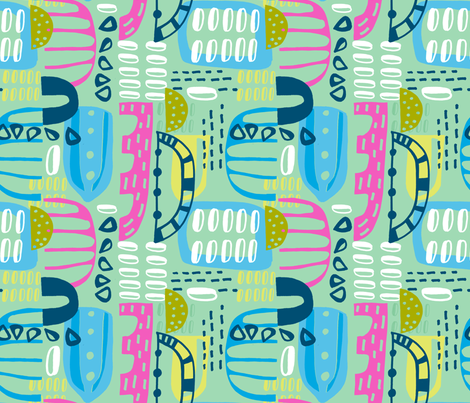 Summer Geo Blocks fabric by slumbermonkey on Spoonflower - custom fabric