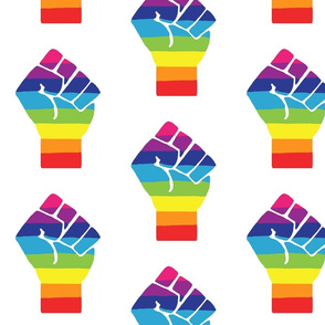 Pride Fist- Large - Rainbow