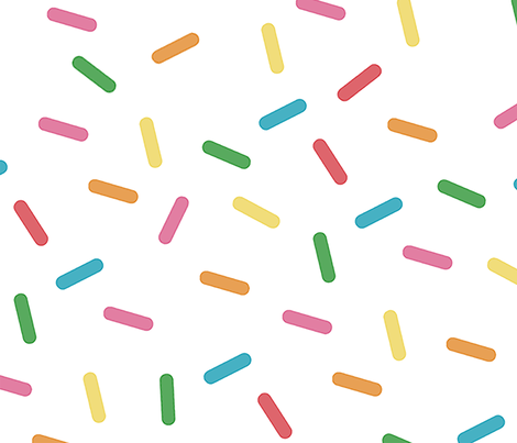 Sprinkles Party fabric by pizzazzerie on Spoonflower - custom fabric