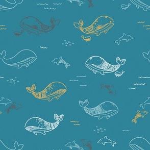 Pretty Whales - Teal