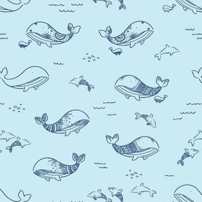 Pretty Whales - Blue