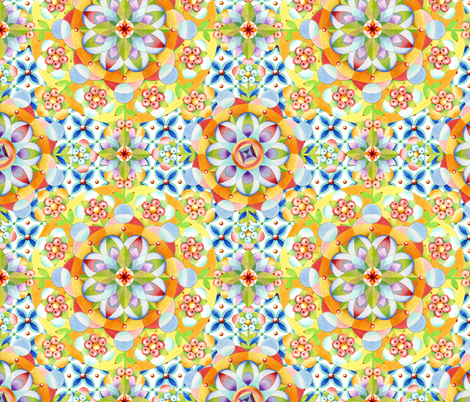 Byzantine Heraldic Mandala fabric by patriciasheadesigns on Spoonflower - custom fabric