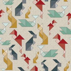Retro-Animal-Tangram