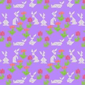 Bunnies Tiptoeing Through the Tulips