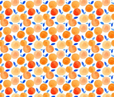 Watercolor Orange fabric by j_e_c_scott on Spoonflower - custom fabric
