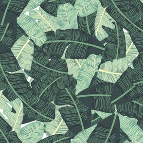 Miami Beach Banana Leaves Repeat