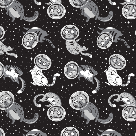 Galaxy cats fabric by penguinhouse on Spoonflower - custom fabric