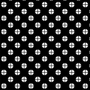 Sewing Swatches Dots - Black