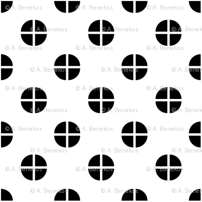 Sewing Swatches Dots - Black on White