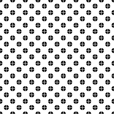 Sewing Swatches Dots - Black on White fabric by siya on Spoonflower - custom fabric
