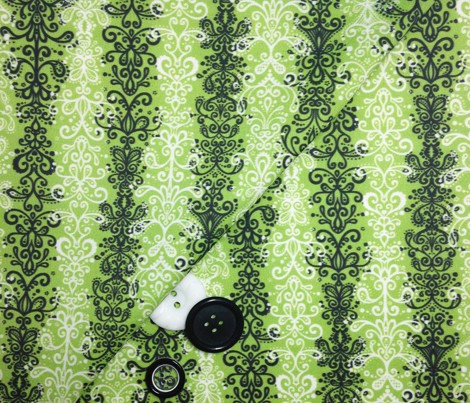 Ornamental Stripe - Sewing Swatches Green