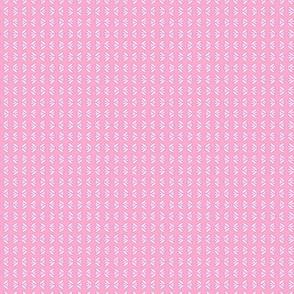 Mini Flowers Pink Stripe