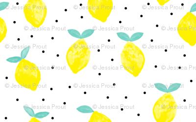 (micro print) lemons - white