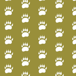 bear paw // earthy green