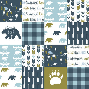Don't Wake the BEAR Cheater Quilt