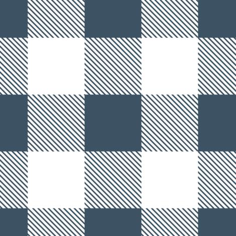 Buffalo Plaid // slate & white fabric by buckwoodsdesignco on Spoonflower - custom fabric