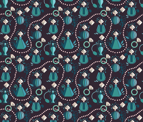 Tangram diamonds and pearls fabric by camcreative on Spoonflower - custom fabric
