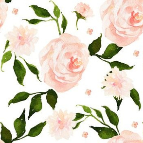 English Pink Garden / 90 degrees