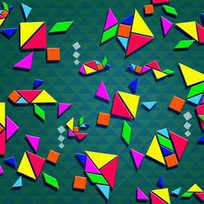 Tangrams fishes by Artninus