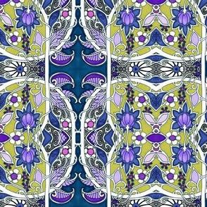 Purple Paisley Vine Entwine
