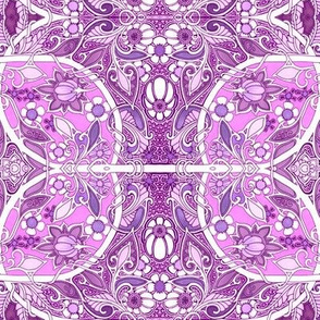 Purple and Pink Art Nouveau Lady Stuff