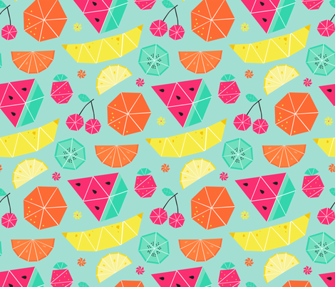 Tropical Tangrams fabric by designs_by_lisa_k on Spoonflower - custom fabric