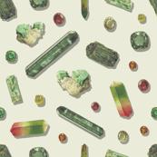 Emerald Precious Stones - Bone