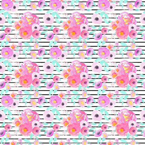 Indy Bloom Design Neon Zebra_A fabric by indybloomdesign on Spoonflower - custom fabric