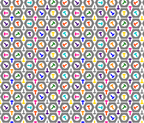 Nuts & Bolts fabric by rebecca_finds_designs on Spoonflower - custom fabric