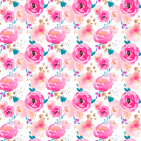 Indy Bloom Design Punchy Florals_D fabric by indybloomdesign on Spoonflower - custom fabric