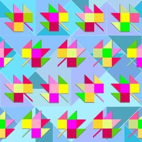 Spring tangram