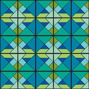 Blue Green Tangram