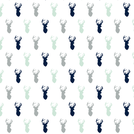 (micro print) multi buck head - northern lights fabric by littlearrowdesign on Spoonflower - custom fabric