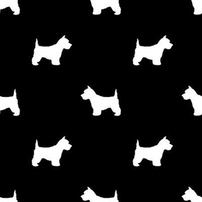 Westie west highland terrier dog silhouette black
