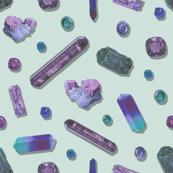 Amethyst Precious Stones - Mint