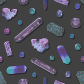 Amethyst Precious Stones - Slate