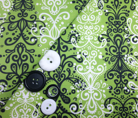 Ornamental Stripe - Sewing Swatches Green (Large)