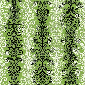 Ornamental Stripe - Sewing Swatch on Green (Large)