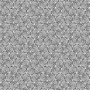 Doodle Spirals - Black on White