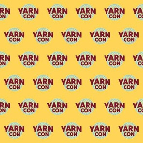 YarnCon logo on yellow
