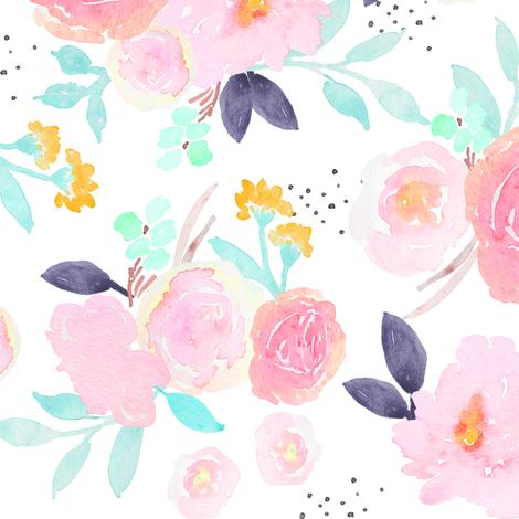 Indy Bloom Design Penelope Garden_C fabric by indybloomdesign on Spoonflower - custom fabric