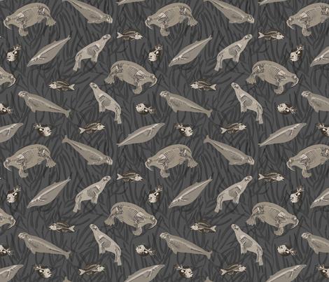 Sea Skeletons fabric by idoa on Spoonflower - custom fabric