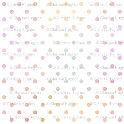 Pastel Rainbow Watercolor Dots Pattern